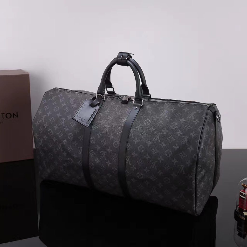 сумка Louis Vuitton Keepall 55 Monogram Eclipse как у фараона